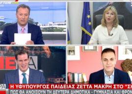 Ζέττα Μακρή: Κυρώσεις για άρνηση self test-Θα χορηγούνται και σε εκπαιδευτικούς Φροντιστηρίων